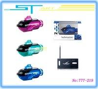 "24PCS 777-219 Rc Submarine ExPlorer  4"" Mini Micro radio remote Control Yacht  MIX Color  Wholesale gift"