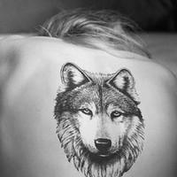Free shipping New TaTy wolf tattoo stickers Waterproof tattoo stickers fashion tattoo sticker party mask