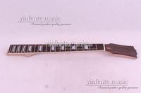one 22 fret Unfinished electric guitar neck head fingerboar