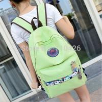 2014 Korean preppy style new fashion women bag school backpacks canvas shoulder bag