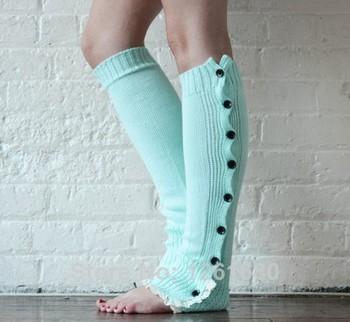 Crochet Кружево Trim Хлопок Вязаная Leg Warmers Boot Socks Knee High Cuffs Кружево ...