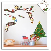 New Cheeky Monkey Christmas gift children's room wall stickers cartoon sticker room decor WALL DECALS Stickers
