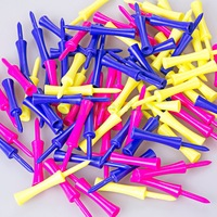 Free Shipping 80pcs Assorted Plastic Step Down Golf Tees Graduated Castle Tee Height Control 78mm