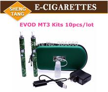 Wholesale MT3 Atomizer vaporizer EVOD Battery Double Dual Kit Flower Stone MT3  for  Electronic Cigarette E Cig E-cigarette Kits