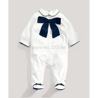 2014 autumn baby girls boys gentleman long sleeve jumpsuits infant bebe rompers footies clothing wholesale