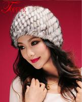 Free Shipping New Fashion Real Genuine Mink Fur Hat Cap Nature Knit Mink Fur Hat Fashion Women Headgear FP322