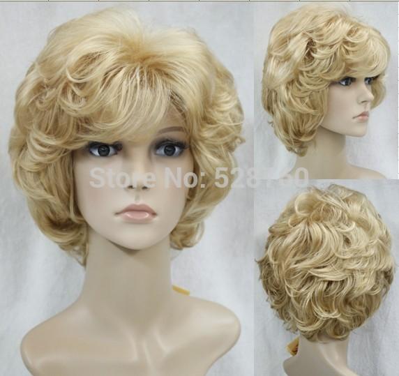 Short Blonde Curly Wig 114