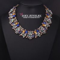 JOEY New Hot Women Necklaces Gem stone Jewelry Crystal Diamon d Jewelry Chokers Necklaces Statement FreeShipping