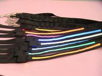 50Pcs/Lot Black Band Flashing LED Dog Leashes Fashion Dog Collars Flashing at Night Pet Satety Free Shipping