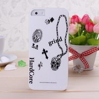 New Arrival IMD Material Words and Images Graffiti Black Color Pattern Hard Case Cover for iPhone 5s free shipping