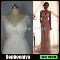 WDA079 Real Elegant  anna  campbell bridal dress vestido de casamento