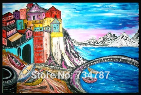 Online kopen wholesale riviera schilderij uit china riviera schilderij groothandel - Decoratie schilderij volwassen kamer ...