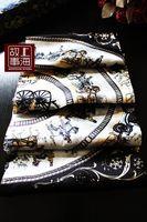 Free shipping black colour women fashion Silk scarf silk scarf mulberry silk scarf female