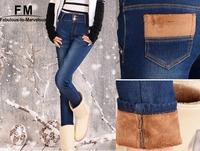Thickening Jeans Women Winter 2014 Calca Jeans Feminina Denim Skinny Pencil Pants Boyfriend Jeans Women Plus Size 6XL AW14P014