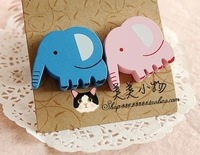 Card love Meng elephant baby elephant cartoon magnetic stickers large refrigerator zakaa Fridge Magnets 20 sets