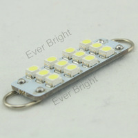 50pcs 44mm 12 smd 12 Led 1210 Led light Car bulb Auto Interior Dome Festoon Lamp Door Lights