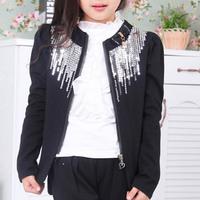 New Arrival Brand Fashion Sequins Girls Jacket Children Outerwear Children's Blazer for Girls Autumn Kids Jackets Coat