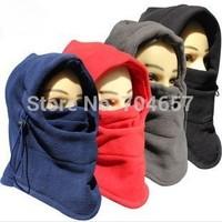 2014 Fall Winter Fleeces Warm Masked Hat CS Anti-Terrorism Balaclava Swat Skiing Cap Ski Bike Scarf Wind Stopper Ski Mask Hats