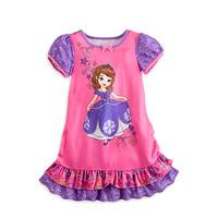 2014 Hot Selling New Style Girls Sofia princess beautiful Dress Fashion princess Dress Children's dress G003