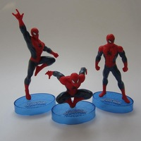 3 Pieces / Set Spiderman Dolls New Fashion The Amazing Spider-Man Dolls Home Decoration Mini PVC Action Figure Toys 10sets