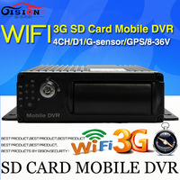 Free shipping 3G Mobile DVR,WiFi Car DVR ,H.264 4CH HD Mini DVR, Real time,GPS Track ,I/O,G-sensor,support iPhone ,Android Phone