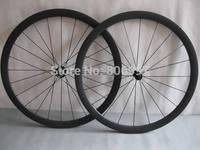 23mm width full black 38mm carbon bicycle wheels tubular /Super light 700c carbon road bike wheels with Powerway R13 hubs
