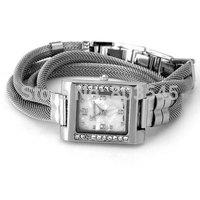 10pcs/lot 2014 New fashion Stylish Women Bracelet Watch with Diamonds Design and Steel Mesh Strap(JWD-2) quartz wrist watch
