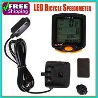 LED Display Digital Bicycle Computer Odometer Speedometer Cycling table Waterproof  24 Functions