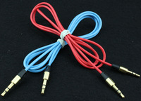 1pcs Colorful MATTE 3.5mm Male to Male Stereo Audio Aux Cable for headphone for iphone 4 4s 5 5s No Tracking Number#101