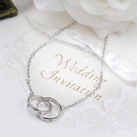 Wholesale or retail 925 Sterling Silver 45CM Dual Necklace Pendant Jewelry China Post Air Mail ST-NK-006