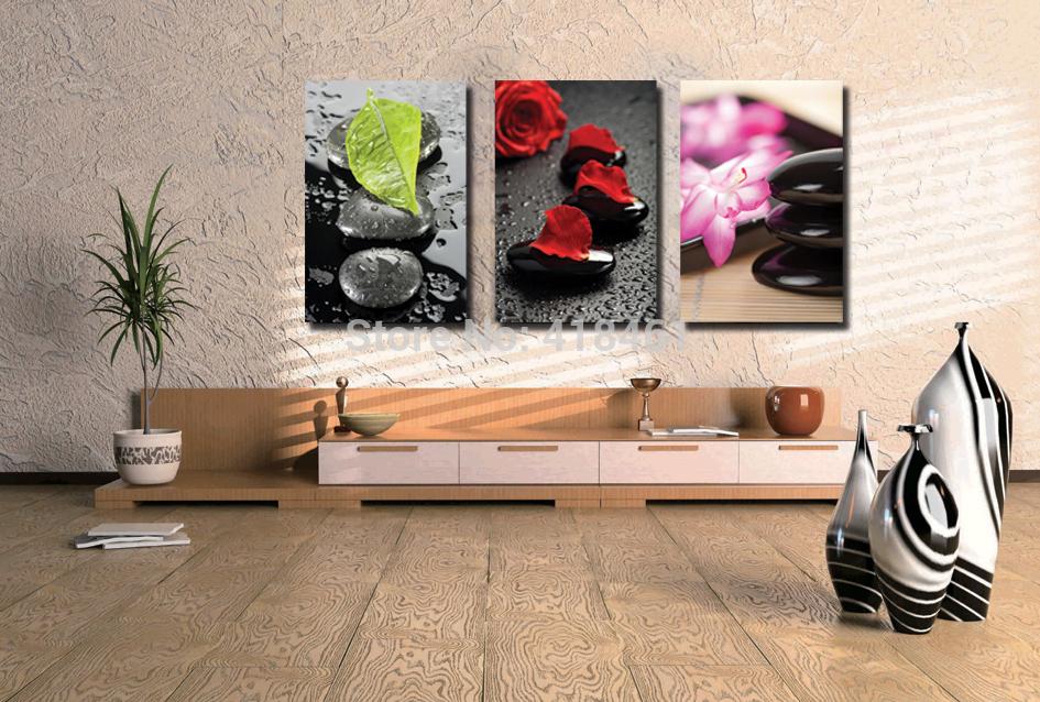 Online kopen wholesale bloemen schilderen uit china bloemen schilderen groothandel - Verf modern muur ...