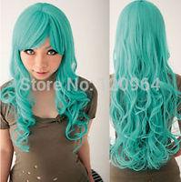 NEW BLEACH Neliel Raionkarurongu Green Emerald Wavy Anime Cosplay Hair Wig Kanekalon hair wigs Free deliver