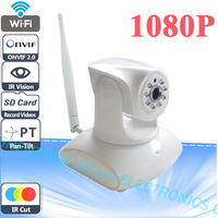 2 Megapixel Full HD 1080P Wireless Wifi PTZ IP Camera Indoor Network With P2P and IR CUT Support 32G TF Card  3 Digitial Zoom