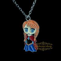 Frozen princess anna Pendant Necklace,Brave fealess Girl's Pendant Necklace, Sister Pendant Necklace