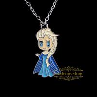 Frozen princess Elsa Pendant Necklace,Brave fealess Girl's Pendant Necklace, Sister Pendant Necklace