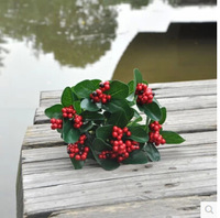 High quality green grass Lucky fruit artificial plants French bonsai plants fake tree artificial flowers decoration MA1541
