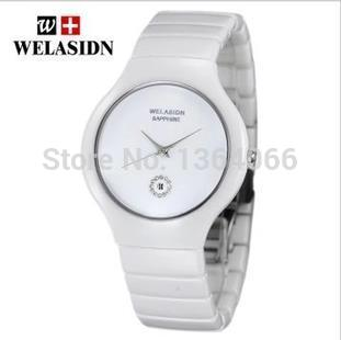 Free shipping fashion white ceramic women watch WEDLASDIN lovers table Waterproof quartz watch the real thing(China (Mainland))