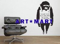 Banksy Monkey Sign Wall Stickers NO.366 ART MART