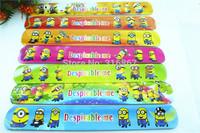 hot sell !! 2014 popular MIXED COLORS  Despicable Me  Magic Ruler Slap Band Bracelets / bangles  SL-4
