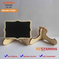 FREE SHIPPING 50 SETS MINI WOODEN EASEL FANCY CHALK BLACK BOARD WEDDING PLACE NAME HOLDER - CAFE TABLE NUMBER