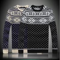 Free shipping Mens slim fit Sweater ROUND NECK shirt fashion knitwear men classic men's pullover knitting shirts Asia M-XXL 8006