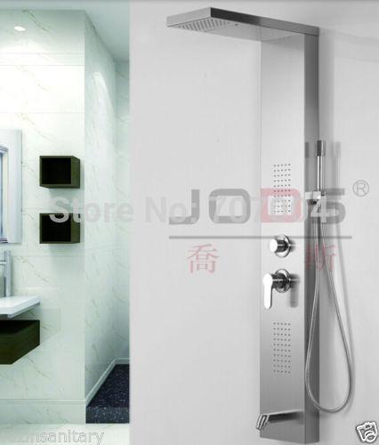 "Stainless Steel Body Massage Jets Wall Mounted 56"" Height Shower Column Rain Shower Panel(China (Mainland))"