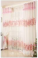[Textile goddess]Korean garden princess children's room pink curtain fabric curtains girl - romantic cherry