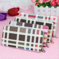 Women Large Zip Wallet fashion casual handbag wallet clutch wallet spell color models