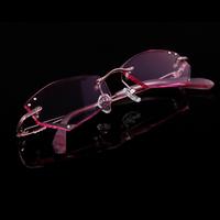 2014 Real Limited Oculos De Grau Femininos Rimless Glasses Myopia Women's Eyeglasses Frame Diamond Ultra-light Finished Products