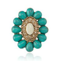ROMANCE IN PARADISE RING  TURQUOISE WOMEN RINGS