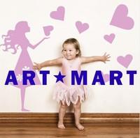 Kids Vinyl Wall Sticker Emma's Hearts, Fashion Kids Wall Sticker No.194 ART-MART