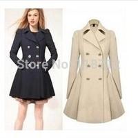 2014 New Hot Selling women's windbreaker Korean fashion Commuter Slim coat women the same with Star women trench Wholesale S-XXL