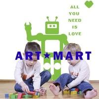 Robot Wall Sticker-non-toxic removable pvc kids wall sticker  NO.193 ART-MART