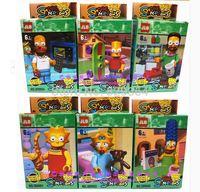 JLB The Simpsons Series Minifigures Building Blocks Sets Toys Figure Bricks lego compatible 6pcs/lot educational toys